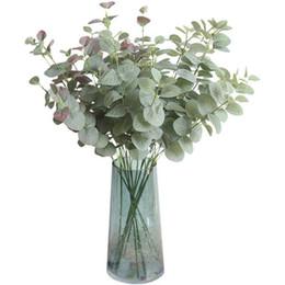 Canada Plante Artificielle Eucalyptus Plante Verte Branche Feuilles 68 CM Home Garden Party Décoratif DIY Plante Mur Ins Photographie Props expédition DHL Offre