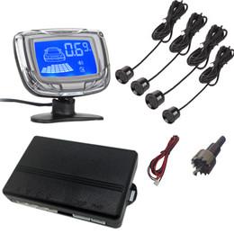Aiuta parcheggio online-Tekbow Inversione di auto Aid Parcheggio - 4 sensori di parcheggio + display del monitor + Modulo di Comando Aid Box Car