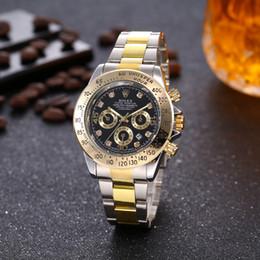 Canada Prix bas Vente de style européen et américain haute qualité bracelet en acier inoxydable montre de mode couleur mélangée livraison gratuite avec boîte Rolex Offre