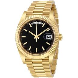 25 colores al por mayor de los hombres del reloj DIA FECHA automática de 18 quilates 40MM mecánica watchres de acero inoxidable reloj de pulsera sin batería 2813 0 desde fabricantes
