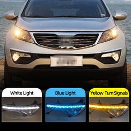 Pair LED DRL Daytime Running Fog Light Lamp  For Kia Sportage 2019-2020 US Stock