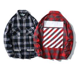 homens da camisa da flanela da forma Desconto Clássico dos homens de algodão camisa de designer de moda rua top quality tendência off marca de luxo camisa casual homens mulheres white printing Streetwear M-XXL