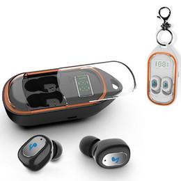 Écran de casque bluetooth en Ligne-Mini TWS Casque Bluetooth sans fil Sport HiFi Subwoofer Écouteurs à réduction de bruit intelligents avec écran à DEL montrant le boîtier de chargement