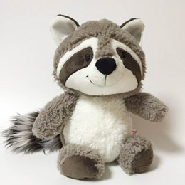 baby doll games video Coupons - Gray Raccoon Plush Toy Lovely Raccoon Cute Soft Stuffed Animals Doll Pillow For Girls Children Kids Baby Birthday Gift c22