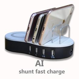carregador soshine Desconto Nova Inteligente Inteligente Estação de Carregamento Inteligente Universal Multi-Port USB Estação de Carregamento 4-Port USB Sem Fio Carregamento Rápido Doca