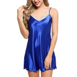 2019 high-end serviço de casa pijamas europa e américa sexy lace sexy cinta camisola de cetim nova europa e américa roupas frete grátis de