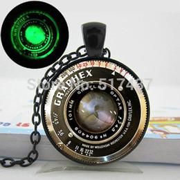 2019 pingente de lente da câmera Brilhando colar Lens pingente Câmera, câmera vintage Colar Lens, Camera arte Pendant foto de vidro brilhando Jóias desconto pingente de lente da câmera