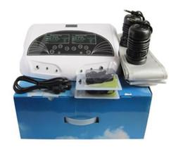 Íon limpa a máquina do pé do detox on-line-grande display LCD dual ion máquina de desintoxicação pé desintoxicação melhor ionize Dual Detox Ionic Foot Bath máquina de desintoxicação pé (matriz de desintoxicação, cinto FIR) para