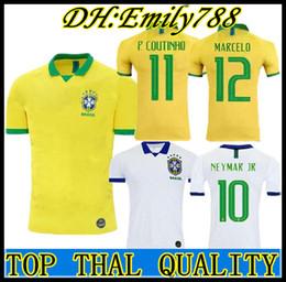 89fafc3628c937 2019 2020 Nuovo Top quality World cup Brasil soccer jerseys uomo Brasile  Jersey 19 20 JESUS COUTINHO FIRMINO MARCELO maglie da calcio uniforme a  prezzi ...