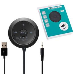 mobile mains libres usb Promotion BC20 Bluetooth 5.0 kit audio récepteur voiture kit mains libres 3.5mm USB 5V 2.1A émetteur FM pour iPhone Mobile Smart Phone
