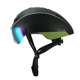 tt helmets Coupons - CAIRBULL 2 Lens AERO-R1 Cycling Helmet Racing Bike Safety Helmet With Magnetic Goggles Mountain Road Pneumatic TT Bicycle Helmet