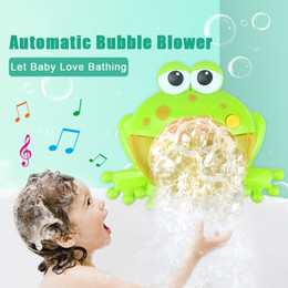 бассейн большой Скидка Baby Bath Toys Bubble Big Frogs Toys For Children Funny Bath Music Bubble Maker Bathtub Pool Swimming Soap Machine Kids Bathroom
