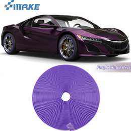 2021 auto adesivi viola 8M Car Wheel Hub Rim Edge Protector Ring Tire Strip Guard Rubber Stickers On Cars Purple Car Styling auto adesivi viola economici