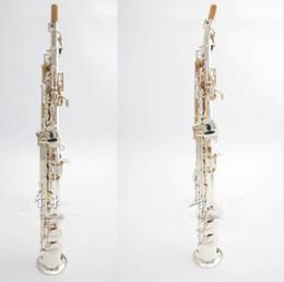 Strumenti di soprano online-Alta qualità Giappone YANAGISAWA S991 B flat Sassofono soprano strumenti musicali Sax ottone placcato argento con custodia professionale