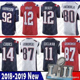 2019 harrison jersey Limited New Patriots 12 Jersey de Tom Brady11 Julian Edelman14 Brandin Cooks 87 Rob Gronkowski 92 James Harrison 80 camisetas de Danny Amendola rebajas harrison jersey