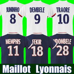 1974edd2c Maillot de foot Olympique Lyonnais soccer jersey 2019 2020 Lyon football  shirt TRAORE MEMPHIS FEKIR OL 18 19 20 jersey shirts MAILLOT foot miami  dolphins ...