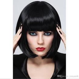 moda cabelo curto perucas Desconto Nova moda curto nenhum laço humano ombre cabelo perucas bob peruca para festa de cosplay
