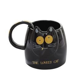 Argentina Tazas lindas coreanas de la cabeza del gato de 400ml, tazas de cerámica de Drinkware del juego de té de la taza de la taza de café para los amigos cercanos, tazas de la escuela de la oficina supplier tea korean Suministro