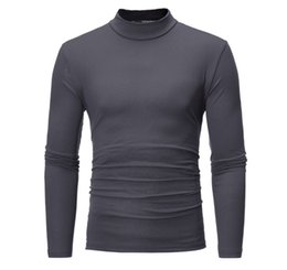 Мужская водолазка свитера Англия тонкий тонкий свитера пуловер мужчины теплый вязаный свитер осень-весна термобелье от