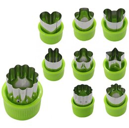 food stamps Coupons - 9 Pcs Vegetable cutter shapes Set fruit and Cookie Stamps Mold cookie cutter Decorative Food for kids baking