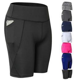 2019 leggings cortos sin costura Pantalones cortos de yoga Mujeres de malla Entrenamiento Pantalones cortos de secado rápido Correr Atlético Gym Leggings Sexy Elástico Sexy Compresión # 104180 rebajas leggings cortos sin costura