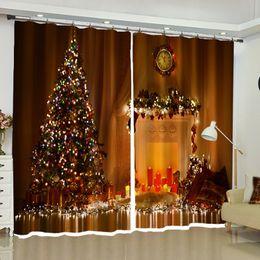 2019 leben weihnachtsbäume Europäische Weihnachtsbaum Stoff Vorhänge Black Out für Wohnzimmer Schlafzimmer Küche Fenster Drapierung Hauptdekorationen Artikel günstig leben weihnachtsbäume