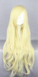 2019 peluca lolita resistente al calor Peluca del partido de la peluca del partido de la peluca sintética de Cosplay de oro más popular, larga y rizada, muy popular y rizada. peluca lolita resistente al calor baratos