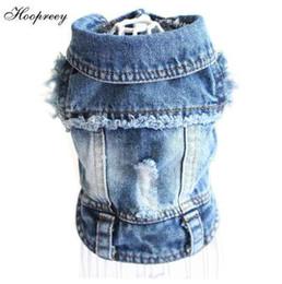Jeans per piccoli cani online-Vestiti dell'animale domestico Vestiti del cane del progettista per i piccoli cani Giacca fredda dei jeans per il cappotto del denim del bulldog francese Outfit del cane per chihuahua 15