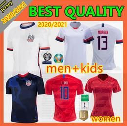 Camisetas de futebol dos eua on-line-novas 2020 mulheres homens Copa América de Futebol Jersey LLOYD RIPINOE KRIEGER Estados Unidos 4 estrelas 19 20 21 PULISIC EUA Football Shirt