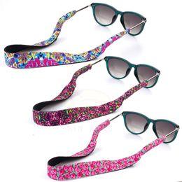 2019 gafas de sol de china Motion Ski Sunglass Patrón de Cadena de Impresión Lilly Eyewear Lanyard floral Glasssholder Material de buceo Gafas Correa Favor de fiesta LJJA2355 gafas de sol de china baratos