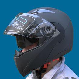 Moto casco flip up online-Flip Sicuro Up Caschi moto con interno Visiera JIEKAI105 Tutti a prezzi accessibili Motocross cascos Caschi