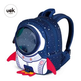school toy bag for boys Coupons - 3D Rockets Anti-lost School Bags For Girls Cartoon high-grade Toy Boys Backpack Kindergarten Bags Children's Gifts For Age 1-3