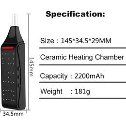 Hugo Vapor EDGE Dry Vare Vaporizer Kit Vape Pen 2200mAh Контроль температуры Керамическая нагревательная камера Cigarette électronique Травяной испаритель от