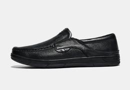 zapatos de cuero sin cordones Rebajas zapatos de cuero ocasionales para los hombres sin cordones, cuero suave para un pie