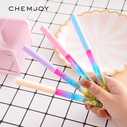 kids wholesale goodies Promo Codes - 12pcs Drift Sand Glitter Crystal Pen Rainbow Party Favor Gift for Kids Goodies Bag Fillers Birthday Carnival Prizes Treasure Box