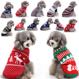 roupas para cães Desconto Reindeer Dog Christmas Halloween Party Clothes New Arrival Knitted Puppy Pet Cat Costumes Snowflake Outerwears Coat Sweater Clothes HH7-250