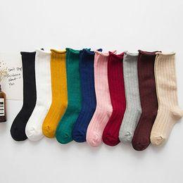 calze lunghe di caramelle Sconti Calzini per bambini 10 Design a tinta unita Ventilazione Calzino lungo Baby Boy Girl Calzini estivi Calzini morbidi Babys Candy Color