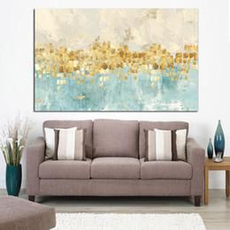 Cadre Abstrait Or Argent Mer Vague Peinture à L'huile sur Toile Affiche et Imprimer Art Moderne Mur Photo pour Salon Cuadros Décor ? partir de fabricateur