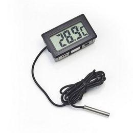 aquarium externe Promotion Thermomètre Hygromètre Numérique LCD Thermomètre Thermomètre Congélateur Thermographe pour Réfrigérateur Contrôle De La Température -50 ~ 110 C