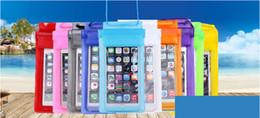 2020 mobile beutelentwürfe Float Airbag Entwurf IPX8 imprägniern trockener Beutel-Kasten Transparent Universelle wasserdichte Handy-Cover-Beutel für iPhone X 8 8plus günstig mobile beutelentwürfe