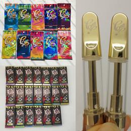 Caixa de embalagem de varejo vazia on-line-CaliPlug Carrinhos Holograma embalagem do cartucho vape 0,8ml 1 ml cartucho cerâmico holográfica Retail Bag Box Cali ligar Ouro vazio 510 Vape Pens
