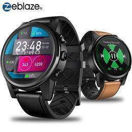 2019 assistir pro Zeblaze THOR 4 PRO 4G inteligentes Relógios 1.6inch Crystal Display GPS pulseira de couro GLONASS Quad Core 1GB 16GB 600mAh 5.0MP assistir pro barato