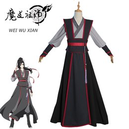 dao Promo Codes - Eraspooky Mo Dao Zu Shi Cosplay Wei Wuxian Young Grandmaster of Demonic Cultivation Costume Men Anime Wei wuxian Wig shoes Flute