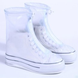 2019 gummi-schuhabdeckungen ausrutschen Wasserdichte Schuhe Abdeckung Rutschfeste Gummisohle Galoschen Wiederverwendbare Regen Schnee Stiefel Abdeckung Für Männer Frauen rabatt gummi-schuhabdeckungen ausrutschen