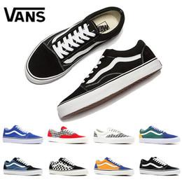 1c737d25621 Original qualidade Vans Old Skool tênis de lona medo de deus branco  vermelho YACHT CLUB preto clássico azul das mulheres dos homens sapatos de  skate tênis ...