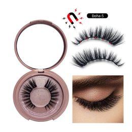 2019 cuadro mixto al por mayor de maquillaje 2019 Más reciente Líquido magnético Eyeliner Magnetic False Eyelashes Tweezer Set Imán False Eyelashes Set Pegamento Maquillaje conjunto de herramientas