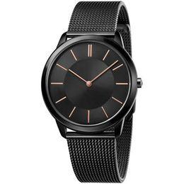 элегантные спортивные часы Скидка Марка дизайнер мужские часы женщина простые часы элегантные розовое золото и серебро элегантные 32MM40MM из нержавеющей стали женские кварцевые спортивные часы
