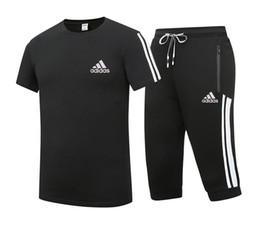 Shorts do hoodie dos homens on-line-Homens verão clothing homens imprimir esporte agasalho hoodies + comprimento do joelho calções casual treino mangas curtas mens ternos plus size l-5xl