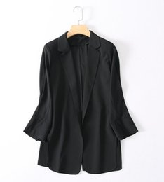 trajes de gasa blazers Rebajas 2019 Hot Summer Women Small Suit Thin Chiffon Suit Tops Mujer Chaqueta de manga larga S-XL Trajes de mujer Blazers Business Work Traje informal
