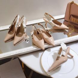 Top Qualität 2019 Luxus Designer Stil Lackleder Thrill Heels Frauen einzigartige Buchstaben Sandalen Kleid Hochzeit Schuhe Sexy ks19042701 von Fabrikanten